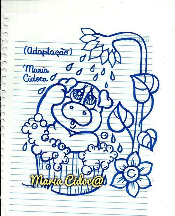 porquinho no banho - Maria Cidoca