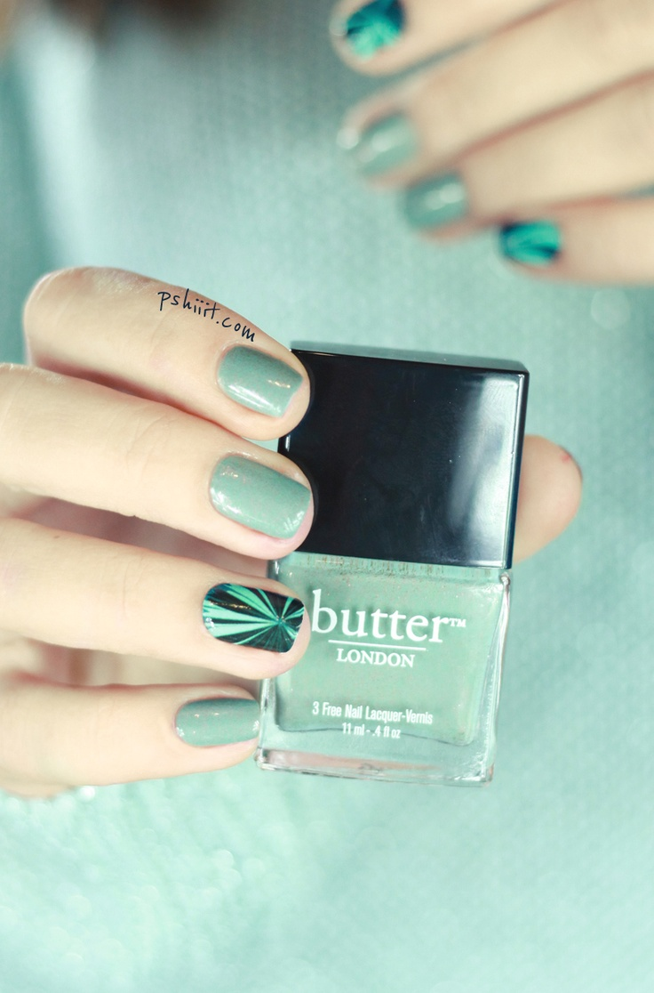 Two Fingered Salute by Butter London & NCLA Nail Wraps | PSHIIIT