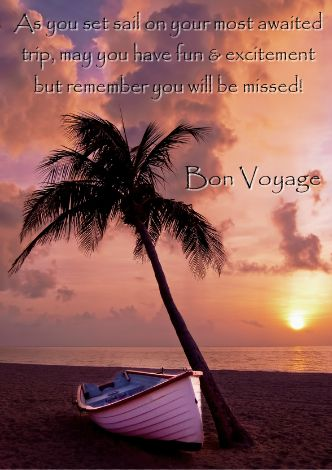 Sunset Beach Bon Voyage Card