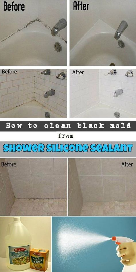 how to clean black mold from shower silicone sealant ncleaningtips rh pinterest com