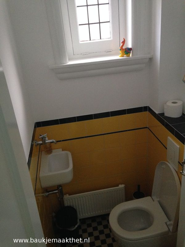 Jaren 39 30 tegels baukje maakt het wc en gang inspiratie pinterest tegels wc en badkamer - Tegels wc design ...