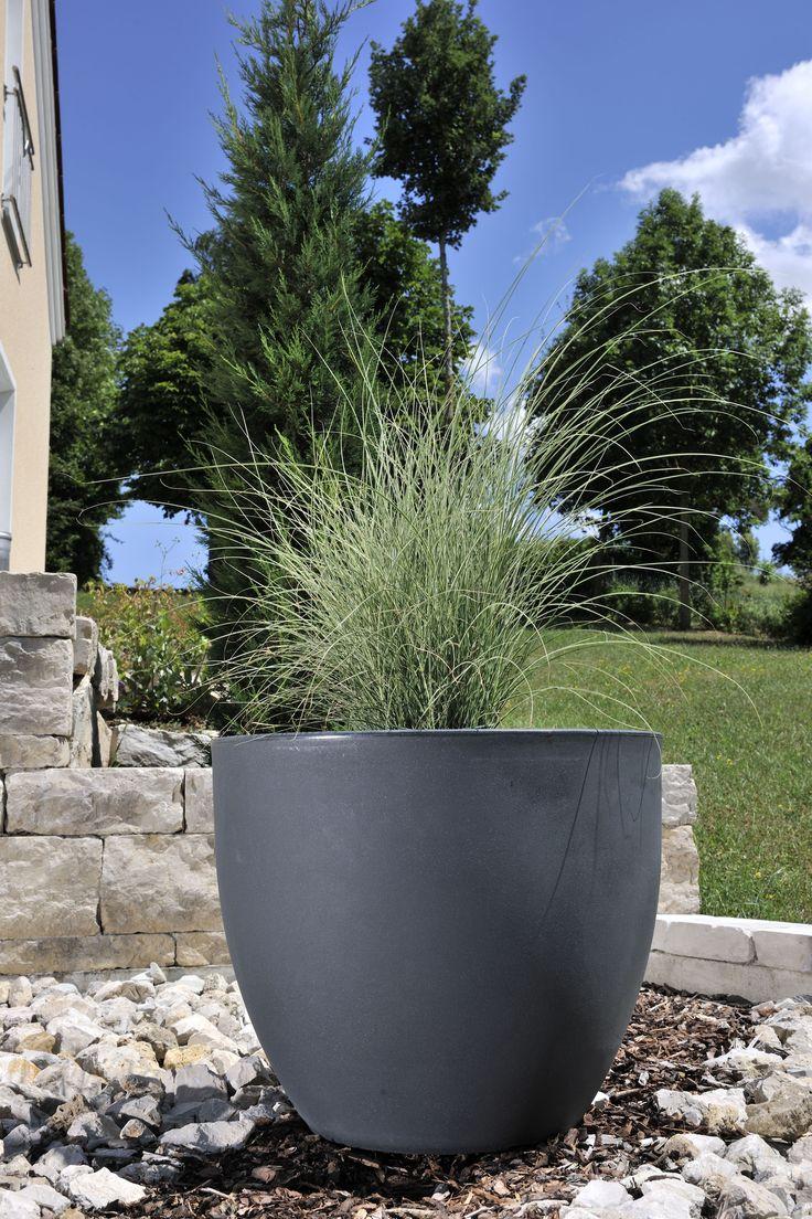 Der Blumentopf TARRO 50 aus Kunststoff in mattem Anthrazit hilft zur Darstellung eines harmonischen Gesamtbildes. Diesen und weitere Pflanzkübel aus Kunststoff finden Sie unter: https://www.pflanzkuebel-direkt.de/pflanzkuebel-kunststoff/