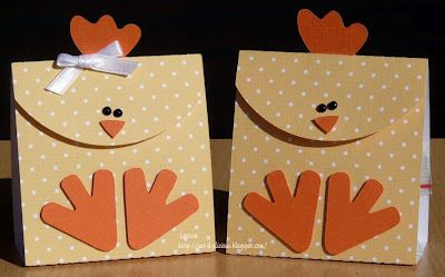 """These would be cute as a party favor at a luncheon.  The theme for the lunch could be """"it's a hen party"""".  These would also make cute invitations."""