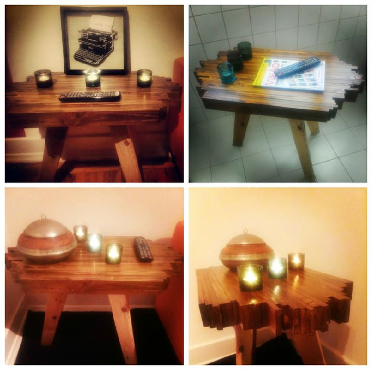 #Bedroom, #PalletSofa, #RecyclingWoodPallets, #SideTable