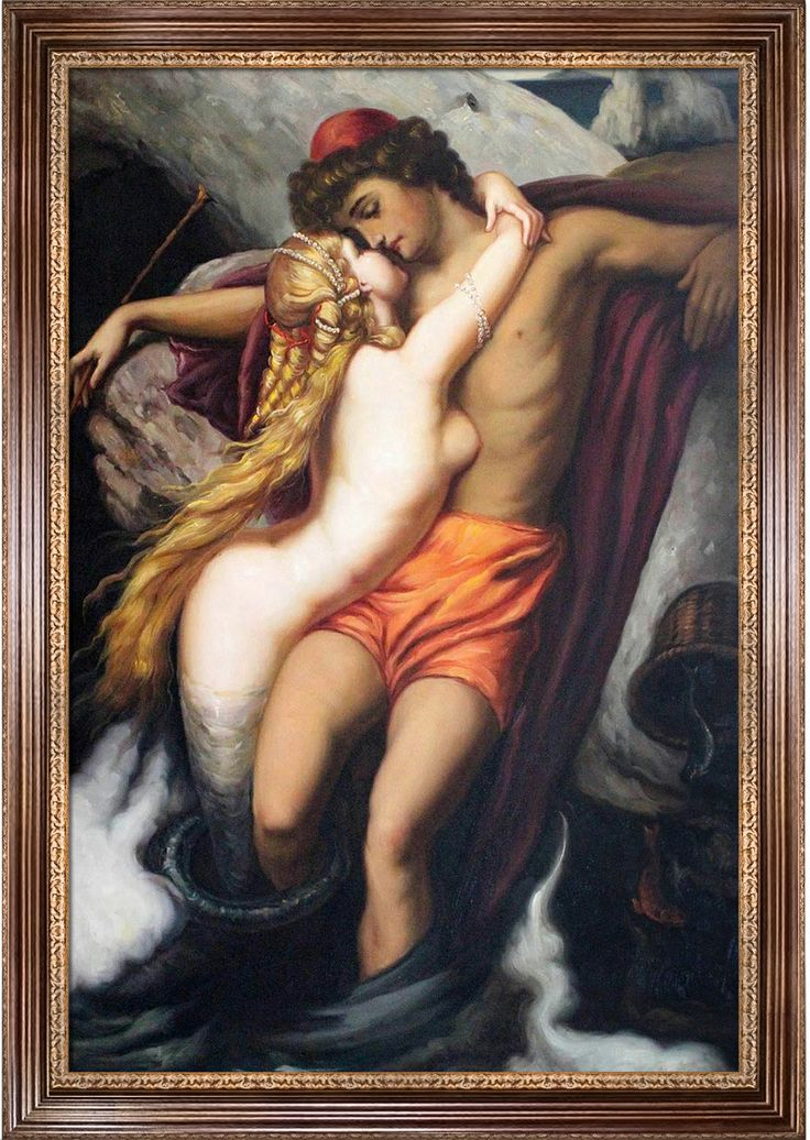 Like your art to have some lust in it? The painting of The Fisherman and the Syren by Sir Frederic Leighton is a testament to romance, through and through.   This painting topped the charts at #1 for Top 10 Most Romantic Oil Painting for Valentine's Day 2014!!!  http://www.overstockart.com/fishermansyren24x36.html