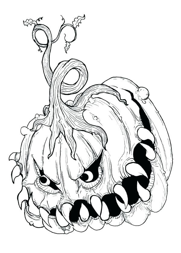 Halloween Coloring Pages Creepy Coloringpagesfree