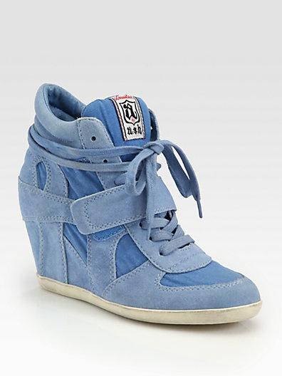 Ash - Bowie Suede Wedge Sneakers