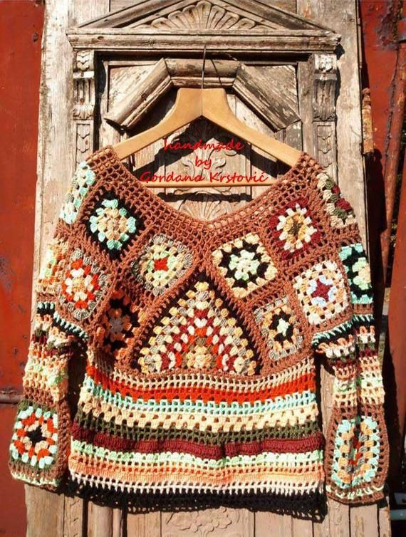 Granny Square top,Vintage top,crochet top,Hippie top,Gypsy top,patchwork top,boho crochet top,Spell & the Gypsy top,Spell and Gypsy top – AA