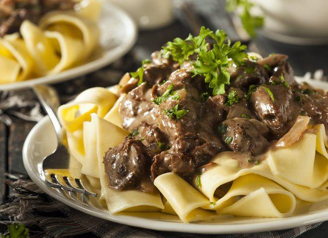 Бефстроганов из говядины: классический рецепт