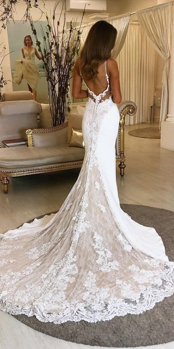 20 Stunning Trumpet Mermaid Wedding Dresses Fitted Lace Wedding Dress Wedding Dresses Lace Fit And Flare Wedding Dress