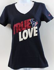 ...adding this to my collection...right meow! -- Nike NFL True Love Houston Texans WMN Team Apparel T Shirt Navy Orig Price $30.