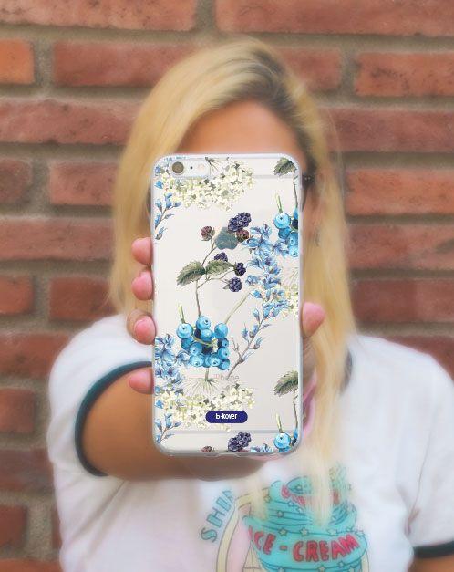 "Funda móvil silicona transparente ""Bluberry blue"" | B-Kover"