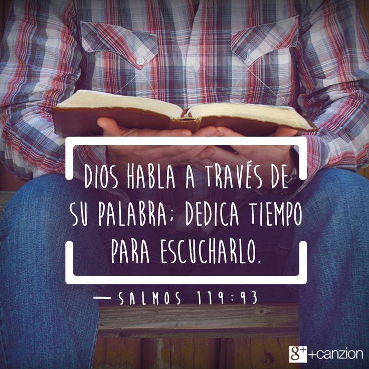 Pídele a Dios que te guíe, te enseñe y te fortalezca mediante su palabra escrita. —Pin it  «Jamás olvidaré tus mandamientos, pues por medio de ellos me diste vida». —Salmos 119:93