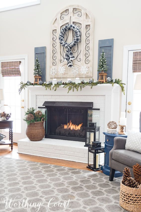 my after christmas snowy winter fireplace worthing court s home rh pinterest com