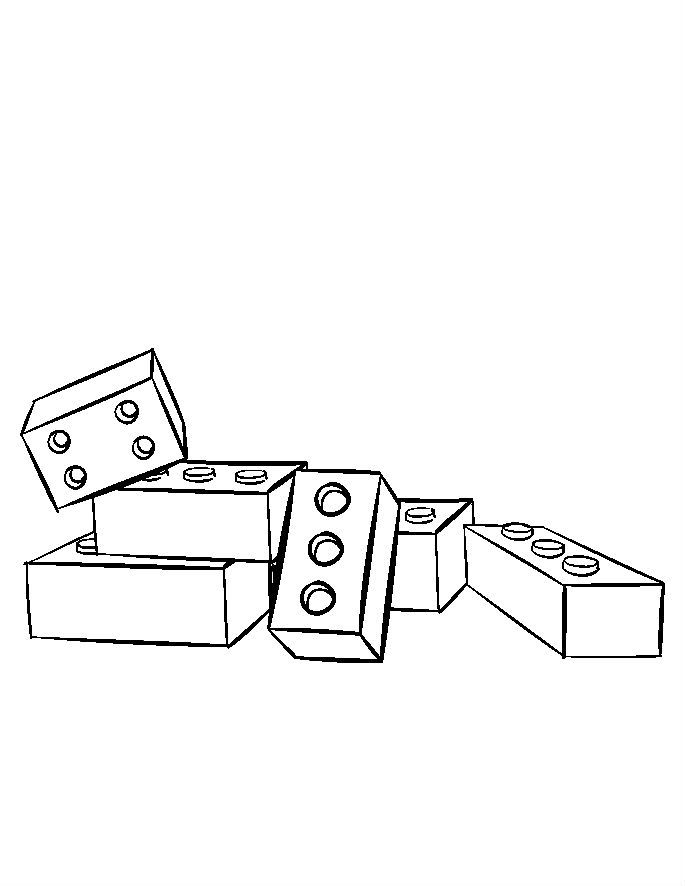 Toys Legos ABC Alphabet Blocks Coloring Pages For Kids