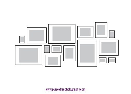 photo arrangements for other wall black or white frames