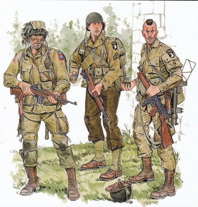 "Paratroopers of the 506th Regiment ... 101st Airborne ""Screaming Eagles""   Division"