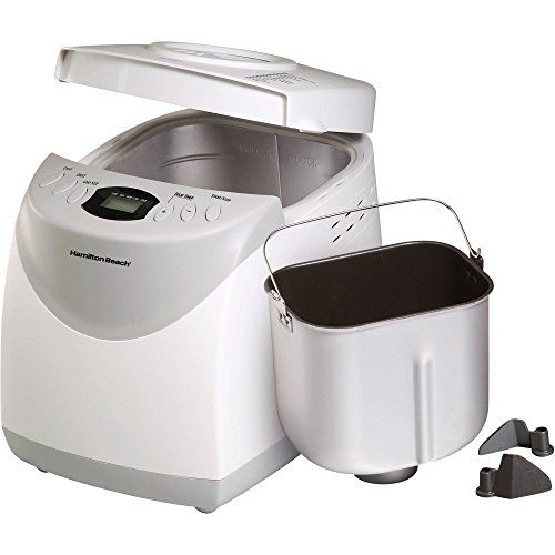 Hamilton Beach 2-lb 12 Settingd Bread Machine includes 2 Paddles and Recipe Booklet