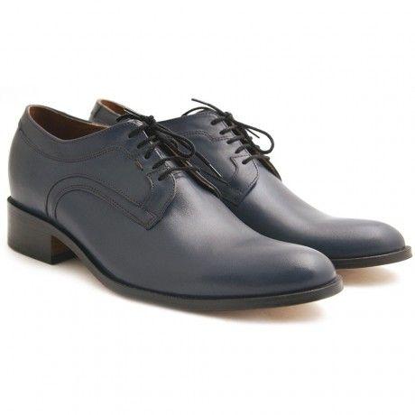 Dark blue elegant shoes for men