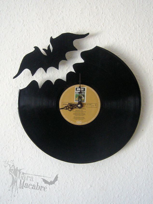 Bat Clock Vinyl Record by Mara Macabre