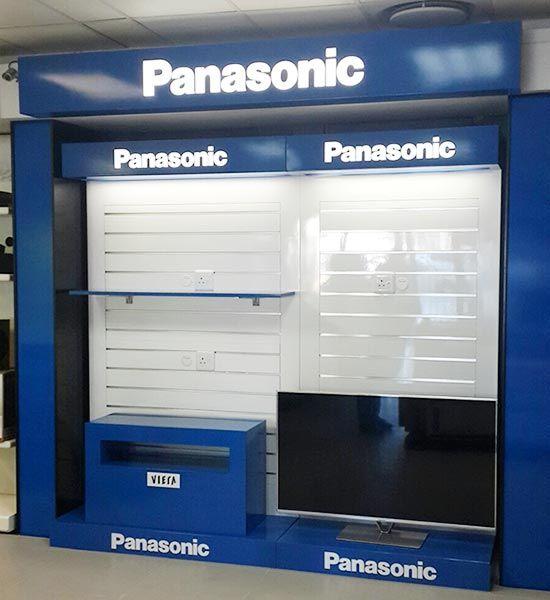 Panasonic wall displays, Viera TV box and wall light box installed at P&G Bryanston JHB.