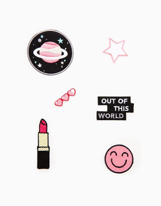 At Stradivarius you'll find 1 Set of 6 patches for woman for just 5.95 € . Visit now to discover this and more PATCHES AND PINS.