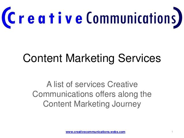 #Creative #Communications: #Content #Marketing #Journey - #Service #Offering by Julia Ranzani @TrulyJuly via @slideshare