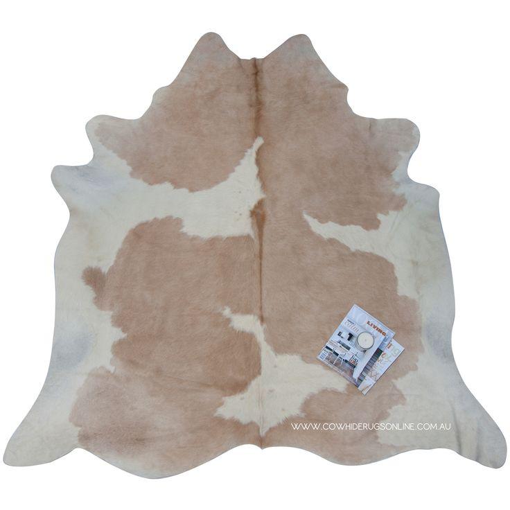 beige u0026 white special natural cowhide rug