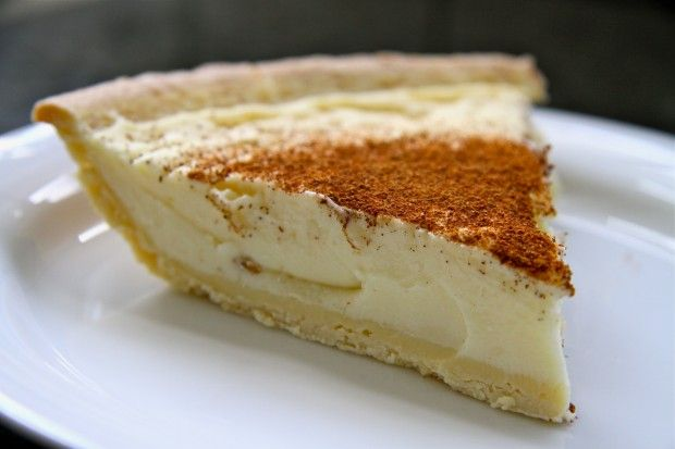 Melktert - Milk Tart. This is a very popular dessert and has a custard, creamy texture in the middle!