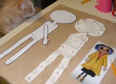 Coraline Doll Pattern Make Your Own Little by YesterdaysTrashArt