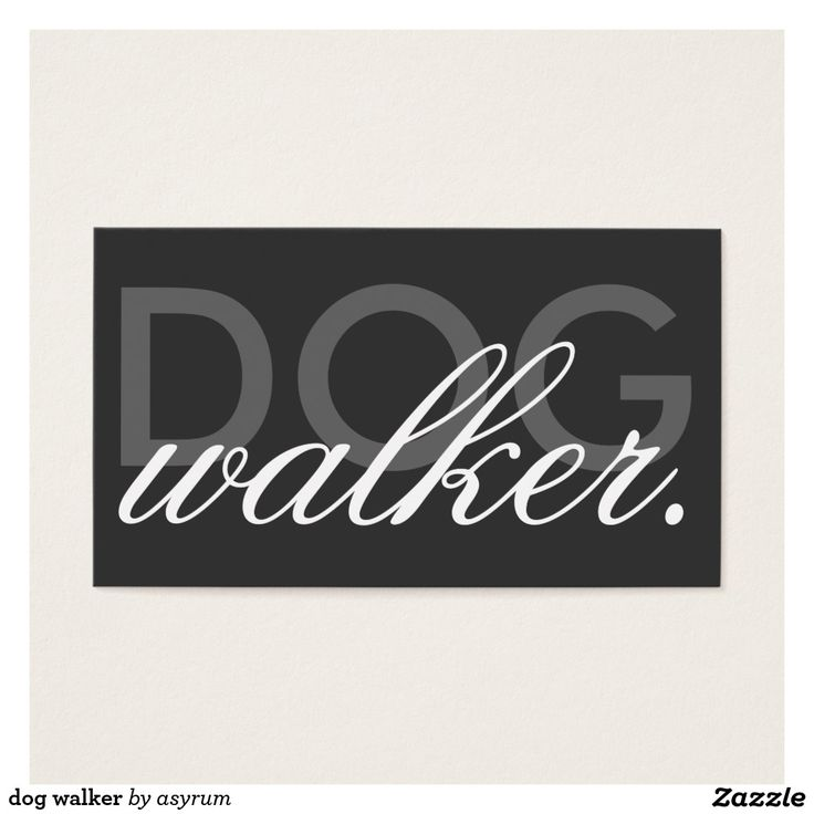 The 8 best Dog. Walking images on Pinterest | Name cards, Business ...
