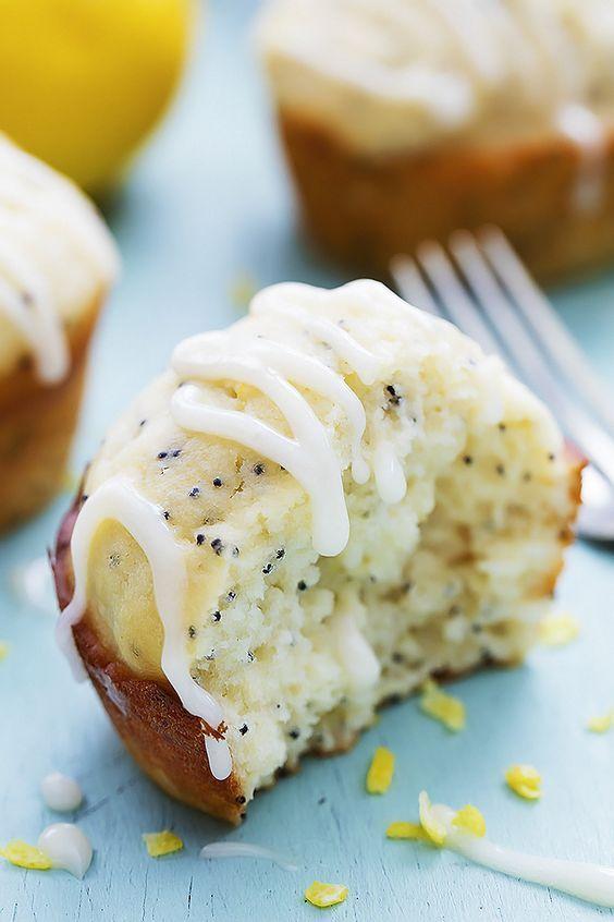 Lemon Poppyseed Muffins by Creme de la Crumb