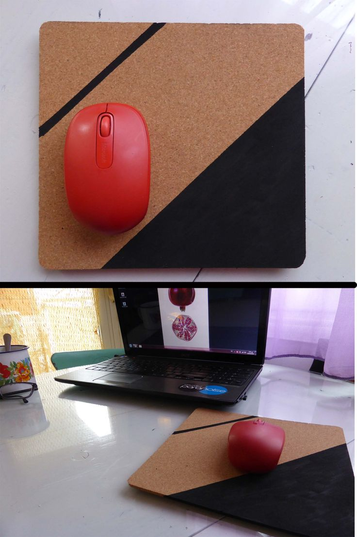 Painted cork mouse pad