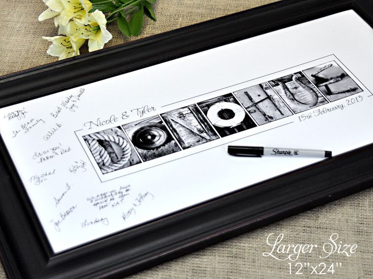 Wedding GUEST BOOK 12x24 Print Alphabet by FrittsCreative on Etsy, $41.00