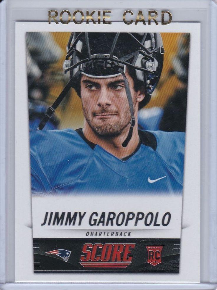 Jimmy Garoppolo 2014 Score Football New England Patriots Rookie Card #386 #NewEnglandPatriots