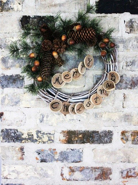 Learn how to make Christmas wreaths from items gathered in your backyard