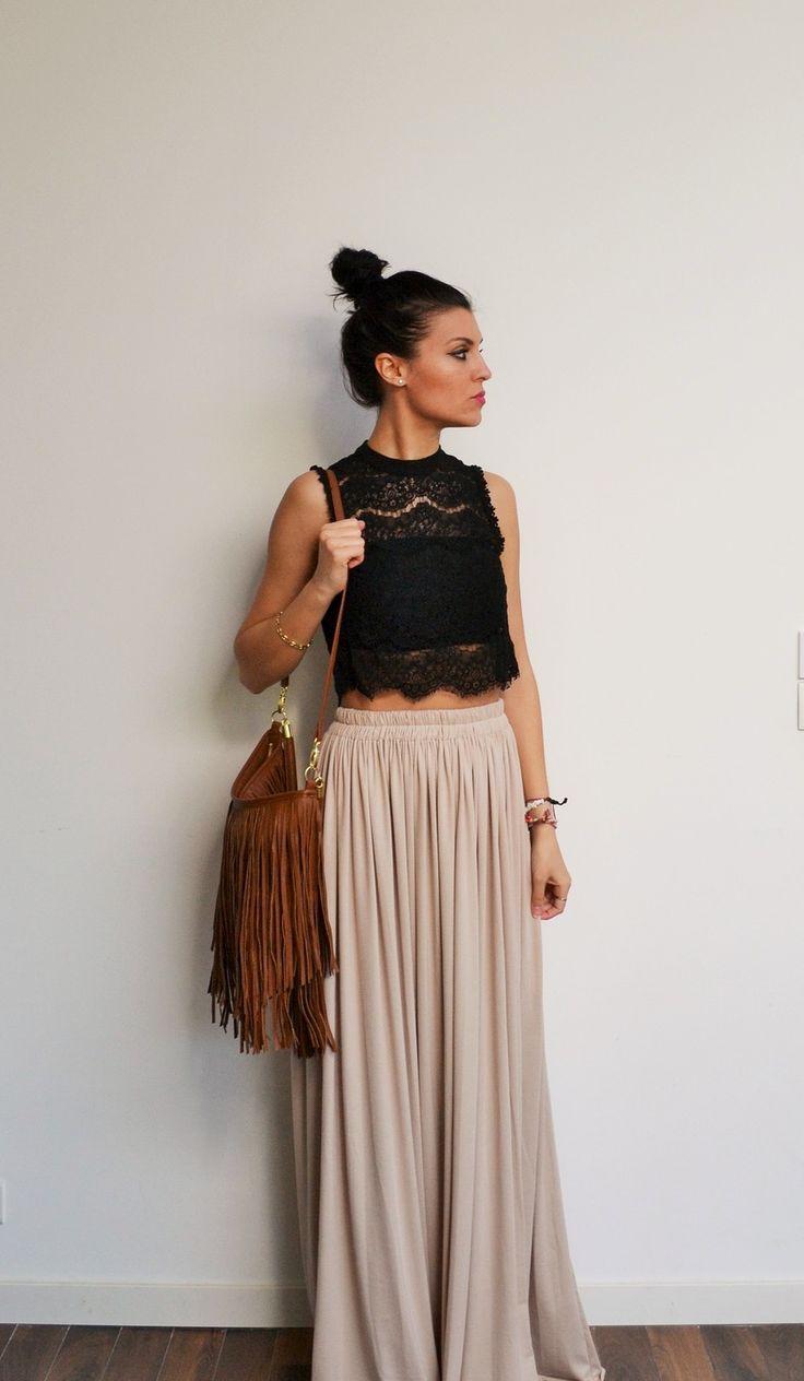 Les 25 meilleures id es concernant jupes longues maxi sur pinterest maxi ju - Style bobo chic femme ...