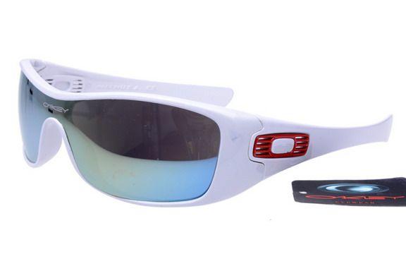Cheap Oakley Antix Sunglasses Frame Lens White Frame Blue Lens O