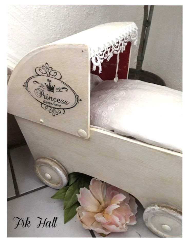 An old homemade white romantic shabby chic child pram for my little lovely granddaughter