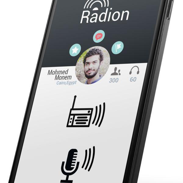 Radion App ui design by Mohamed Monem, via Behance