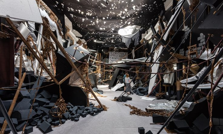 Artist Thomas Hirschhorn plays on our manic pleasure at seeing ruins by making a whole building collapse in on itself