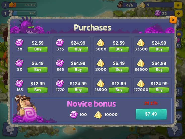 Adventure Era | IAP Shop | UI HUD User Interface Game Art GUI iOS Apps Games | www.girlvsgui.com