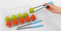 Egg 'n Chopstick  Use the chopstick to pinch   the egg from start to the finish  line, one by one. If the egg falls,  go back to start point and start  over. Any team who pinches all  eggs to the finish line first, is the winner.  List Price: R162.00