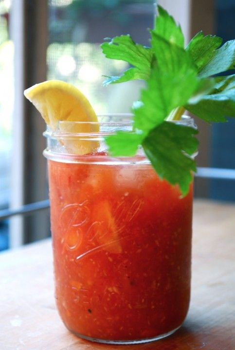 homemade bloody mary: Mary In A Jars, Alcohol Drinks, Mary Inajar, Fave Food, Beverages, Homemade Bloody Mary, Bloody Mary S Yum, Drinks Ideas, Favorite Drinks