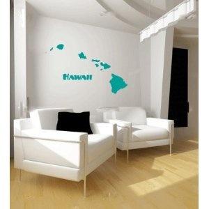 Hawaii Hawaiian Islands Vinyl Wall Decal Sticker Graphic By LKS Trading Post