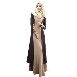 Weixinbuy Abaya Muslim Women's Long Sleeve Casual Maxi Dress M #fashion #Muslim #hijab