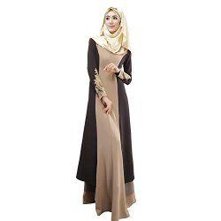 Weixinbuy Abaya Muslim Women's Long Sleeve Casual Maxi Dress M #fashion #Muslim #hijab