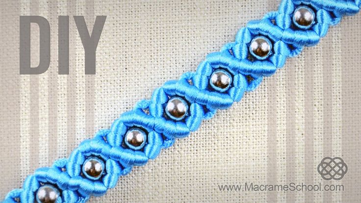 DIY Easy Macramé Eternal Wave Bracelet with Beads | Tutorial