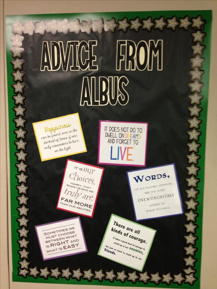 Harry Potter Classroom-Advice From Albus