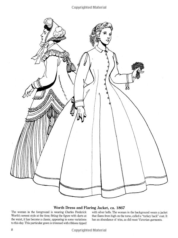 Late Victorian And Edwardian Fashions Dover Fashion Coloring Book Amazonco